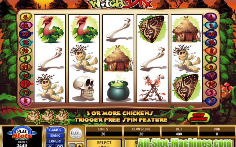 Witch Doctor slots game